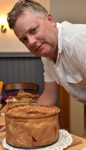Andy Kernick from Turton with his pork pie